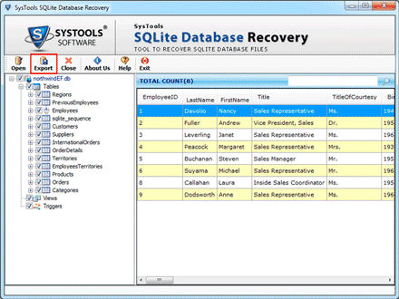 sqlite database Repair screenshot4
